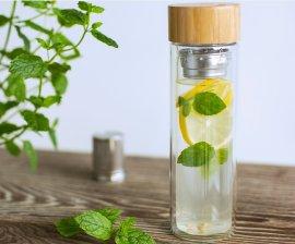 Butelka szklana z zaparzaczem Leaf