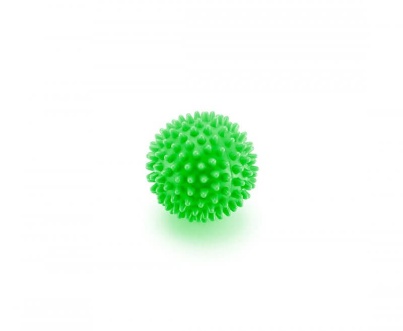 Spike ball piłeczka do masażu z kolcami zielona 4Fizjo